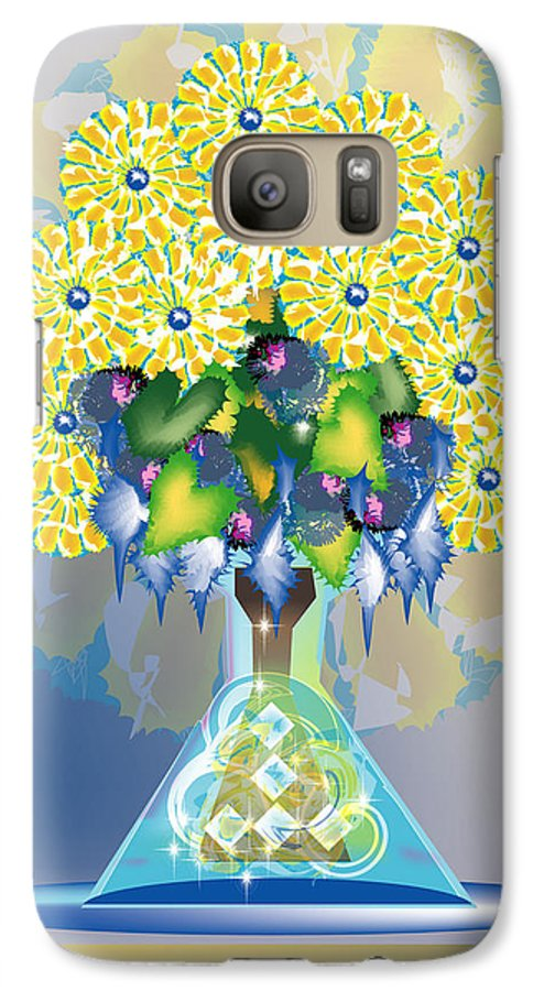 Flowers Galaxy S7 Case featuring the digital art Crystal Boquet by George Pasini