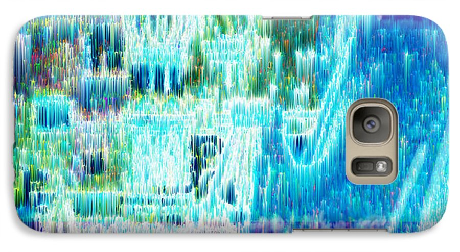 Northern Lights Galaxy S7 Case featuring the digital art Crystal City by Seth Weaver