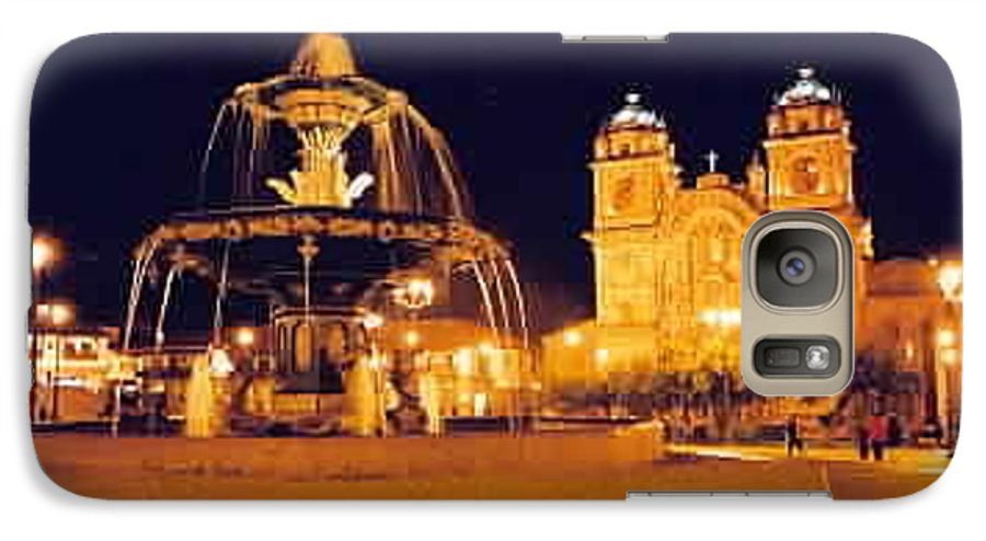 Night Galaxy S7 Case featuring the photograph Cusco Peru by Kathy Schumann