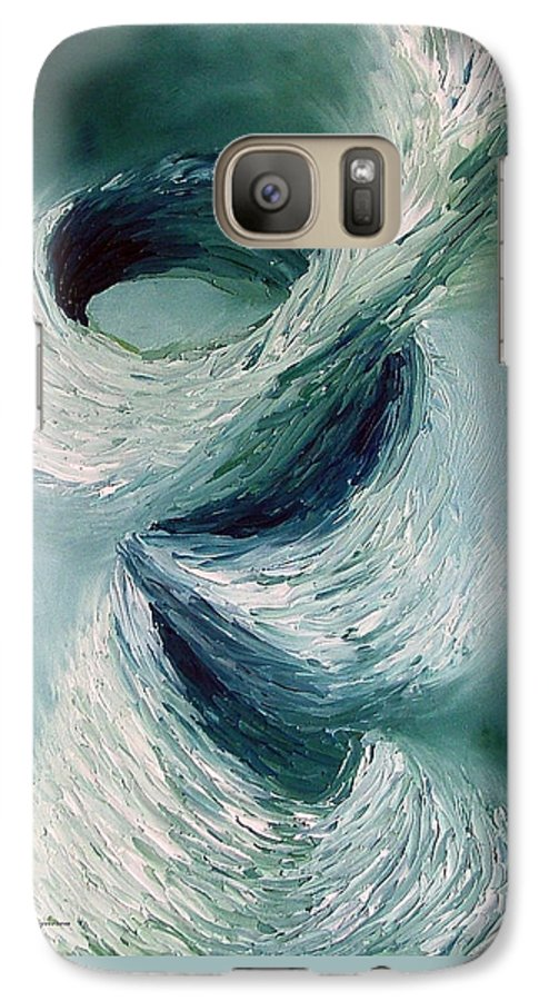 Tornado Galaxy S7 Case featuring the painting Cyclone by Elizabeth Lisy Figueroa