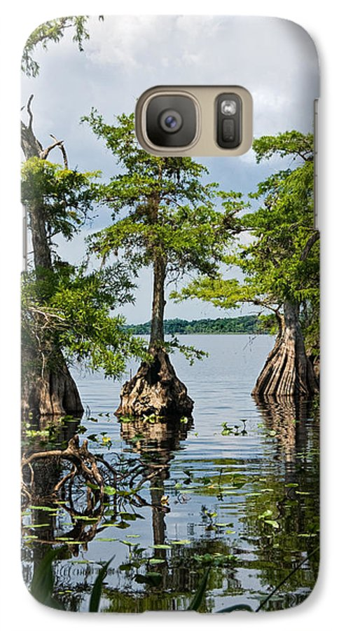 Trees Galaxy S7 Case featuring the photograph Cypress Reflections by Christopher Holmes