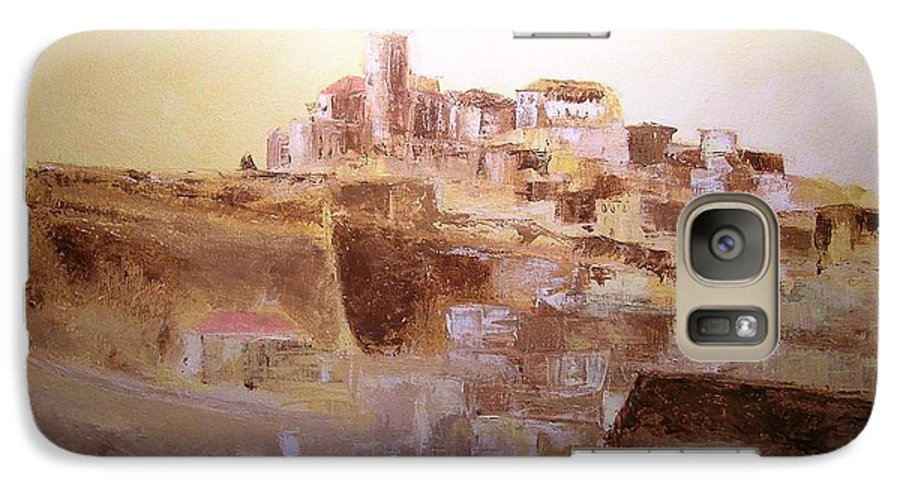 Original Cityscpae Galaxy S7 Case featuring the painting D Alt Vila Ibiza Old Town by Lizzy Forrester
