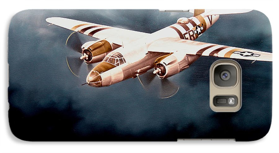 Military Galaxy S7 Case featuring the painting D-day Support by Marc Stewart