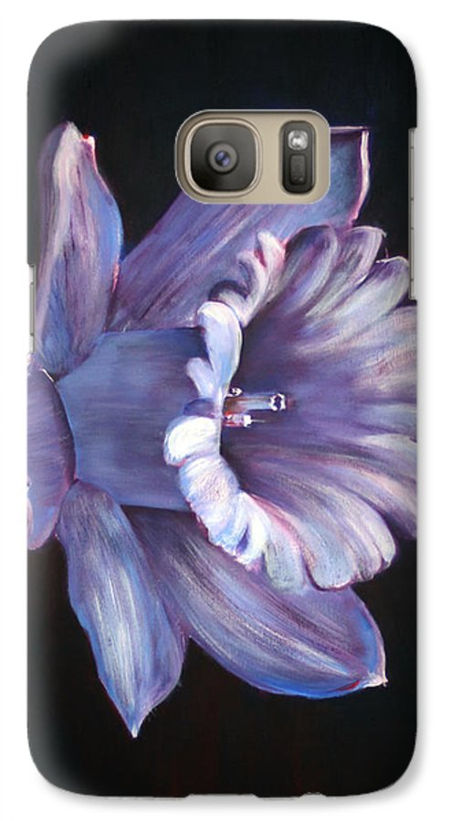 Flower Galaxy S7 Case featuring the painting Daffodil by Fiona Jack