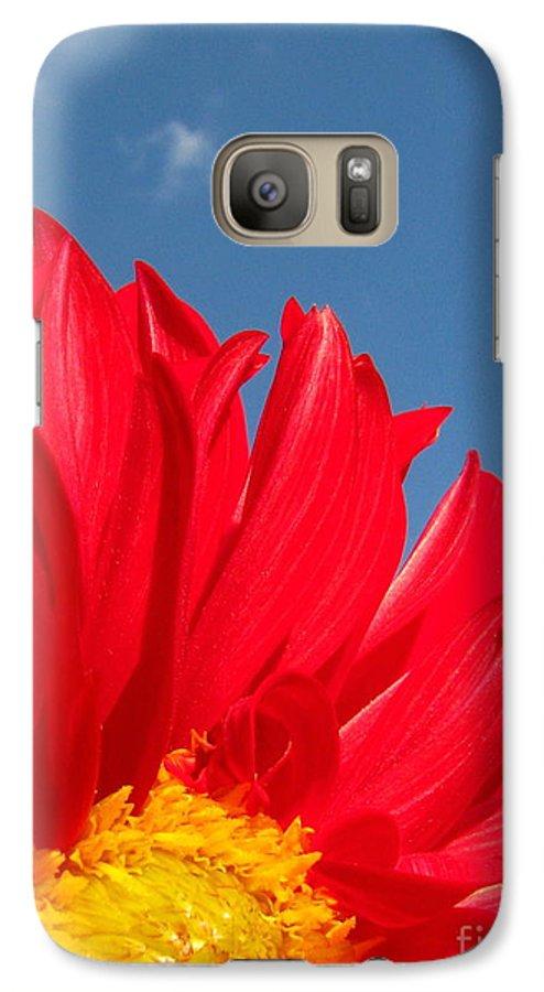 Dahlia Galaxy S7 Case featuring the photograph Dahlia by Amanda Barcon