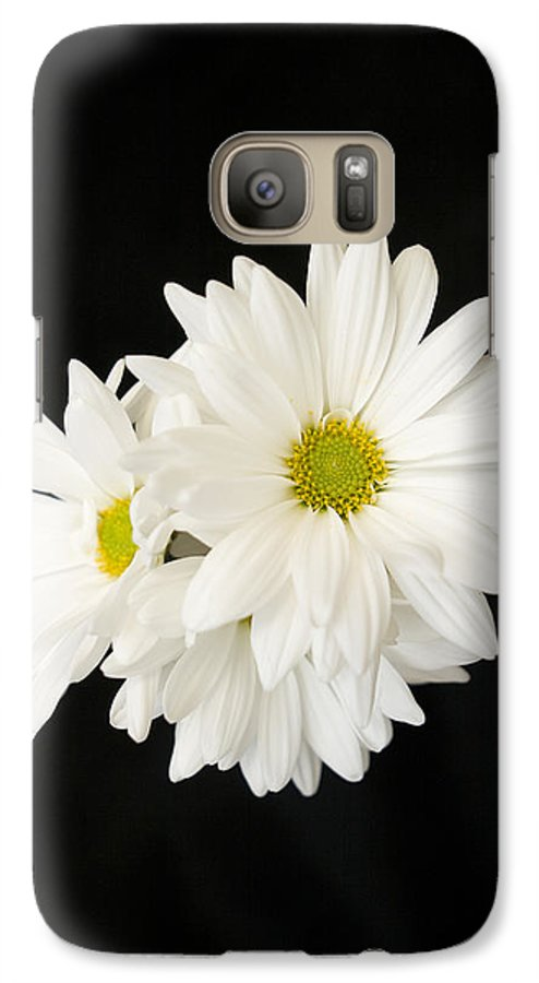 Floral Galaxy S7 Case featuring the photograph Daisies by Ayesha Lakes