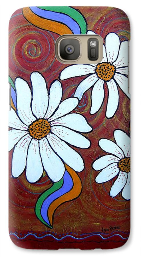 Galaxy S7 Case featuring the painting Daisies Gone Wild by Tami Booher
