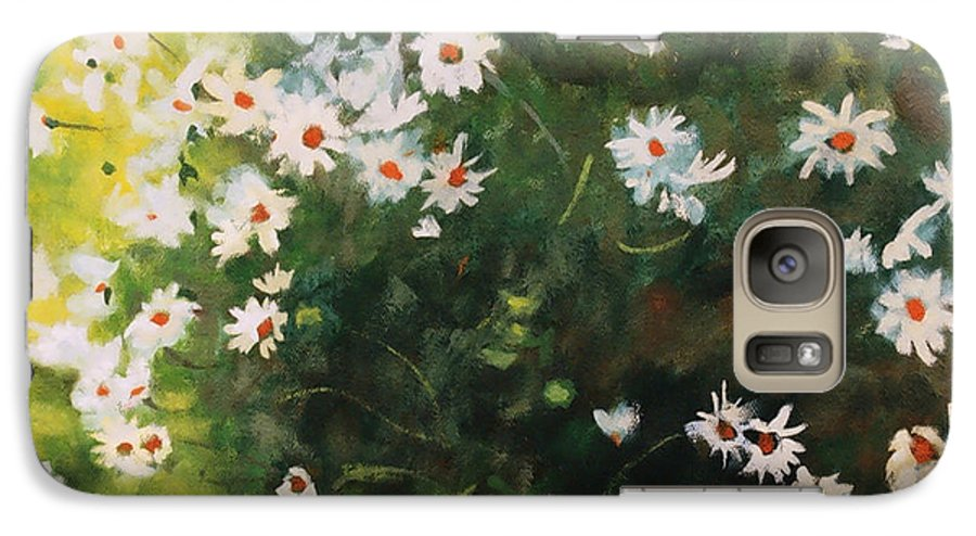 Daisies Galaxy S7 Case featuring the painting Daisies by Iliyan Bozhanov