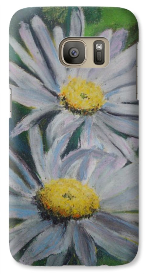 Daisies Galaxy S7 Case featuring the painting Daisies by Melinda Etzold