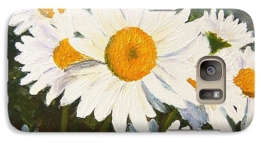 Daisy Galaxy S7 Case featuring the painting Daisy by Tami Booher
