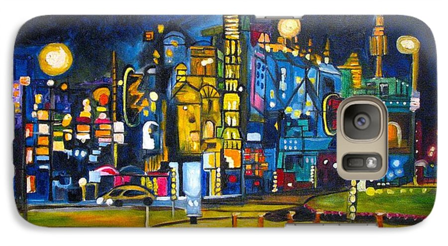 Cityscape Galaxy S7 Case featuring the painting Dam Square by Patricia Arroyo