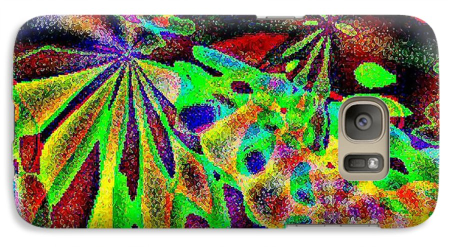 Computer Art Galaxy S7 Case featuring the digital art Damselwing by Dave Martsolf