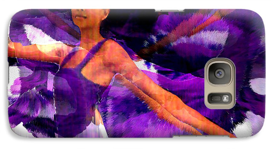 Mystical Galaxy S7 Case featuring the digital art Dance Of The Purple Veil by Seth Weaver