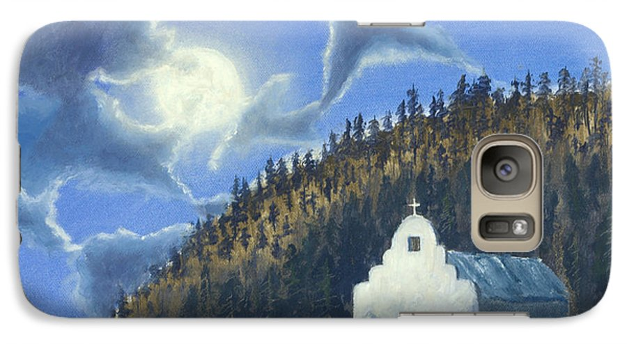 Landscape Galaxy S7 Case featuring the painting Dancing In The Moonlight by Jerry McElroy