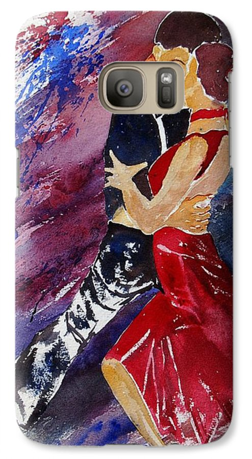 Tango Galaxy S7 Case featuring the painting Dancing Tango by Pol Ledent