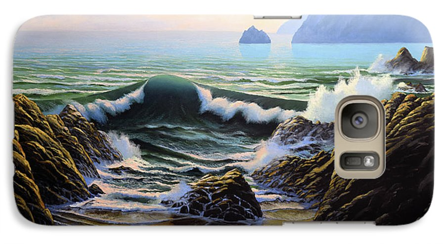 Dancing Tide Galaxy S7 Case featuring the painting Dancing Tide by Frank Wilson