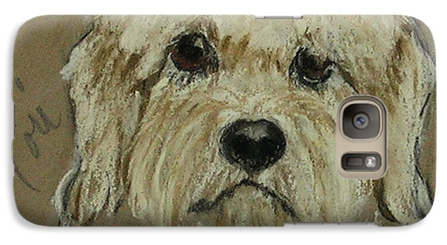 Dandie Dinmont Terrier Galaxy S7 Case featuring the drawing Dandie by Cori Solomon