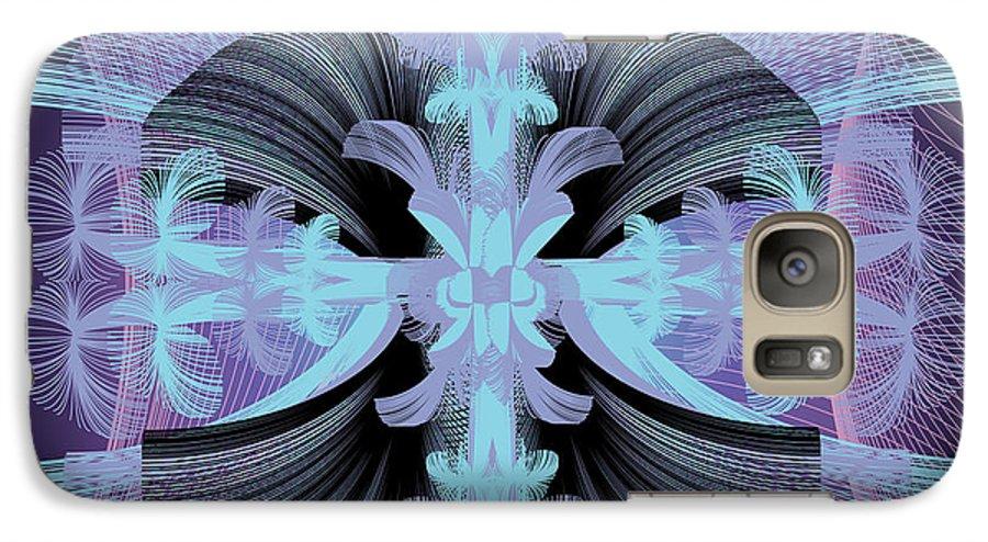 Fantasy Galaxy S7 Case featuring the digital art Dandilion Puffs by George Pasini