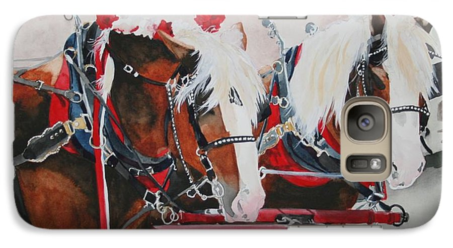 Horse Galaxy S7 Case featuring the painting Dandy Duo by Jean Blackmer