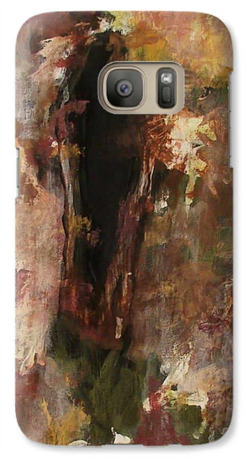 Abstract Galaxy S7 Case featuring the painting Dark Presence by Itaya Lightbourne
