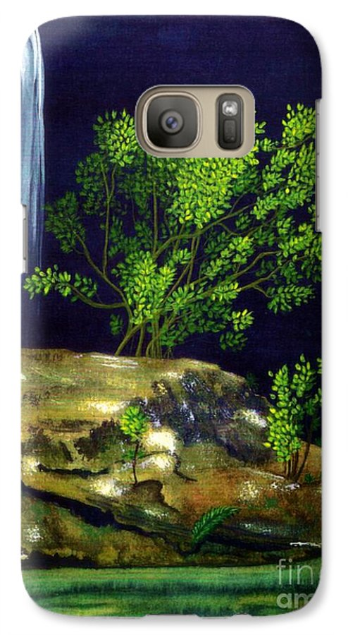 Fine Art Galaxy S7 Case featuring the painting Dark Waters by Patricia Griffin Brett