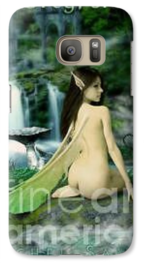 Fairy Galaxy S7 Case featuring the painting Darkwood by Michel Savage