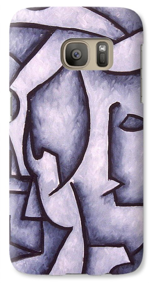 Abstract Galaxy S7 Case featuring the painting David by Thomas Valentine