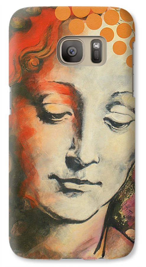 Figurative Galaxy S7 Case featuring the painting Davinci's Head by Jean Pierre Rousselet