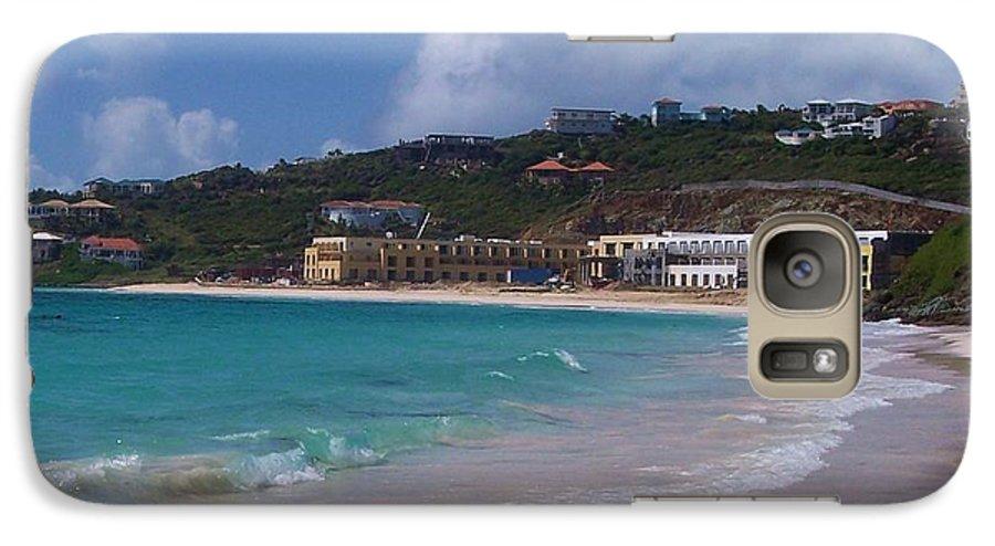 Dawn Beach Galaxy S7 Case featuring the photograph Dawn Beach by Debbi Granruth