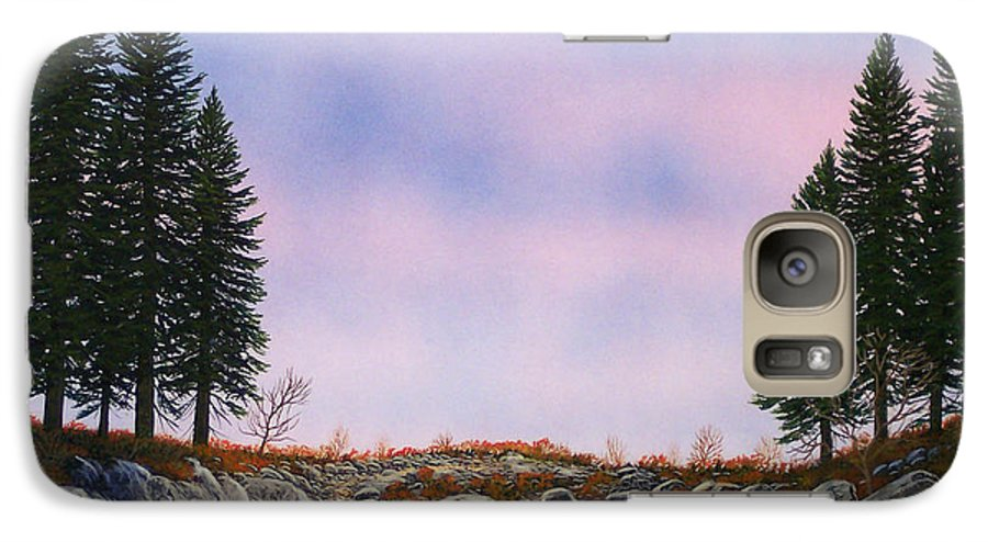 Landscape Galaxy S7 Case featuring the painting Dawn Pacific Crest Trail by Frank Wilson