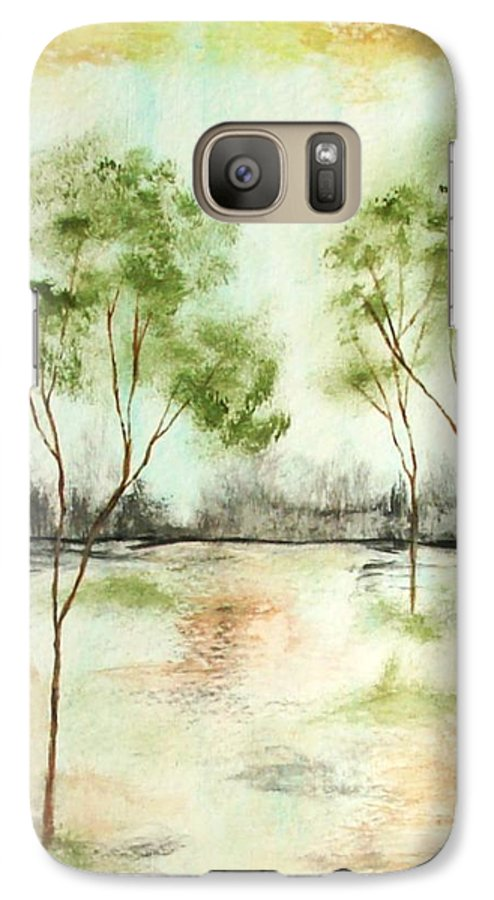 Abstract Galaxy S7 Case featuring the painting Daydream by Itaya Lightbourne