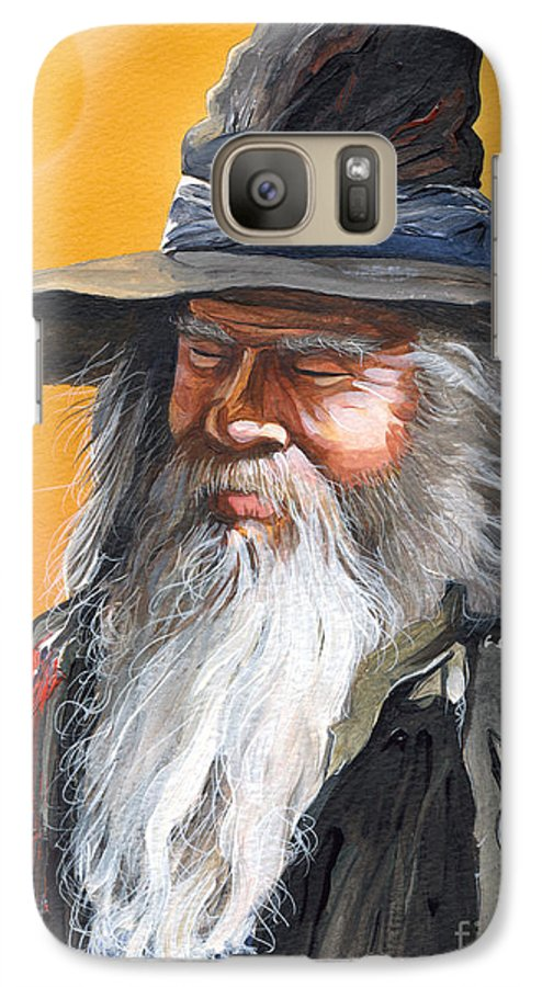 Fantasy Art Galaxy S7 Case featuring the painting Daydream Wizard by J W Baker