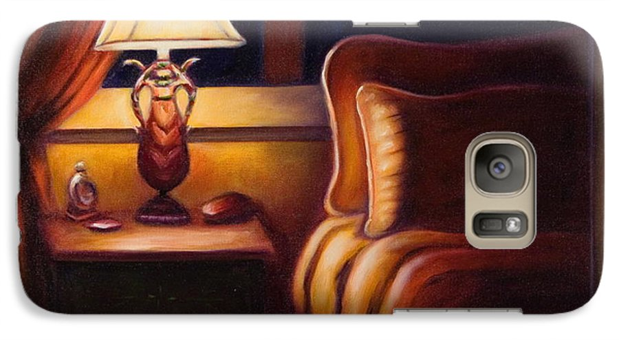Still Life Galaxy S7 Case featuring the painting Days End by Shannon Grissom