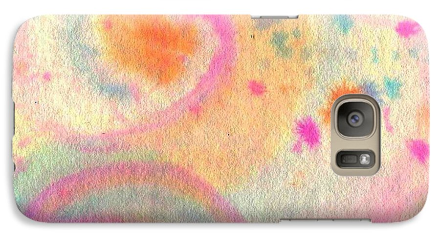 Watercolor Galaxy S7 Case featuring the painting Dayscape by Chandelle Hazen