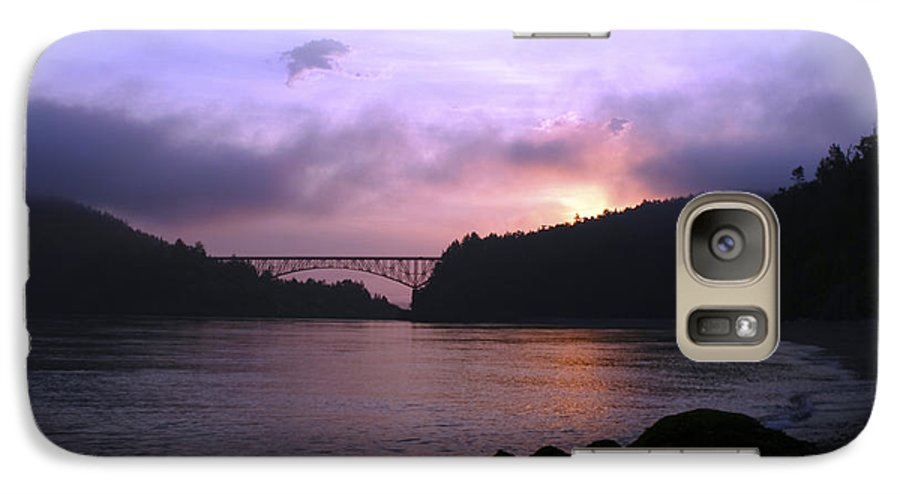 Sunrise Galaxy S7 Case featuring the photograph Deception Pass Sunrise by Idaho Scenic Images Linda Lantzy