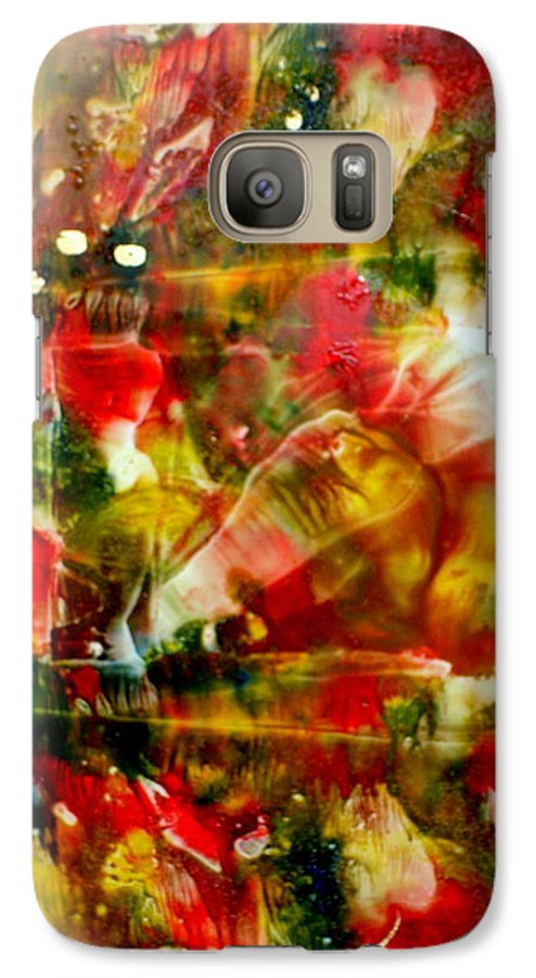 Window Galaxy S7 Case featuring the painting Deck The Halls by Susan Kubes