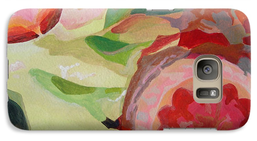 Abstract Galaxy S7 Case featuring the painting Decoupage by Muriel Dolemieux