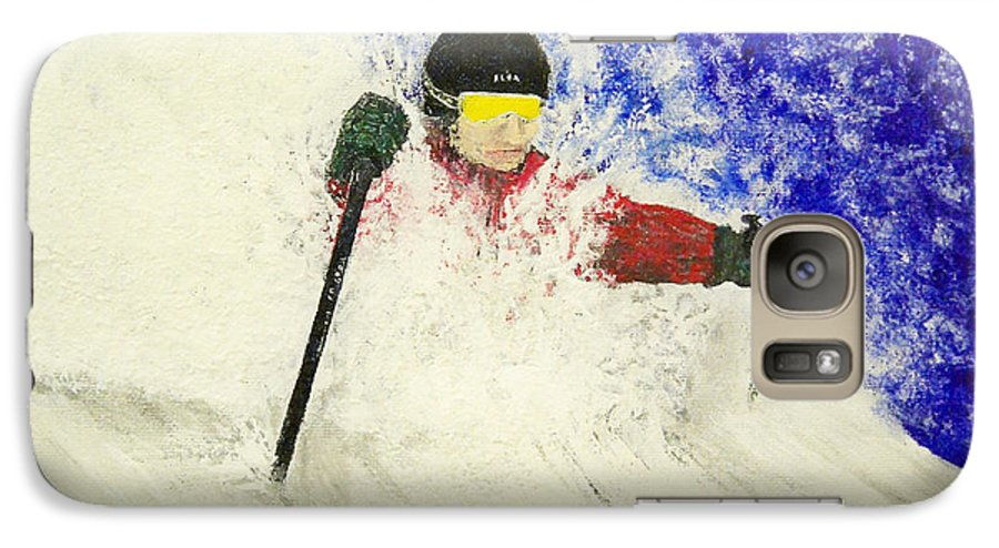 Utah Galaxy S7 Case featuring the painting Deeeep by Michael Cuozzo