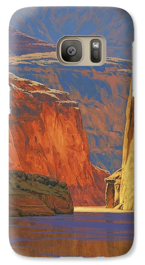 Grand Canyon Galaxy S7 Case featuring the painting Deep In The Canyon by Cody DeLong