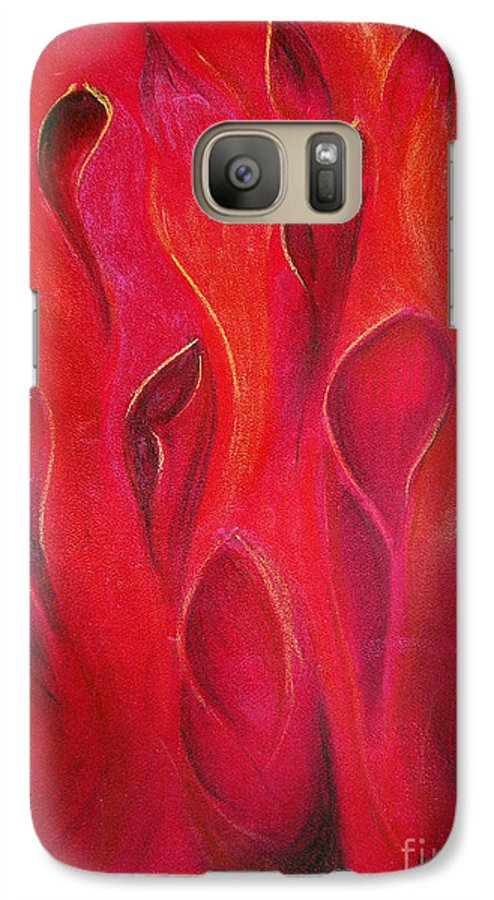 Abstract Galaxy S7 Case featuring the painting Deep Inside by Fanny Diaz