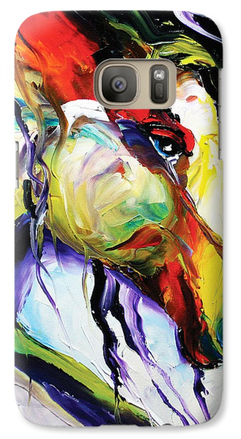 Horse Paintings Galaxy S7 Case featuring the painting Deep Memories by Laurie Pace