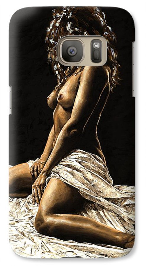 Nude Galaxy S7 Case featuring the painting Defiance by Richard Young