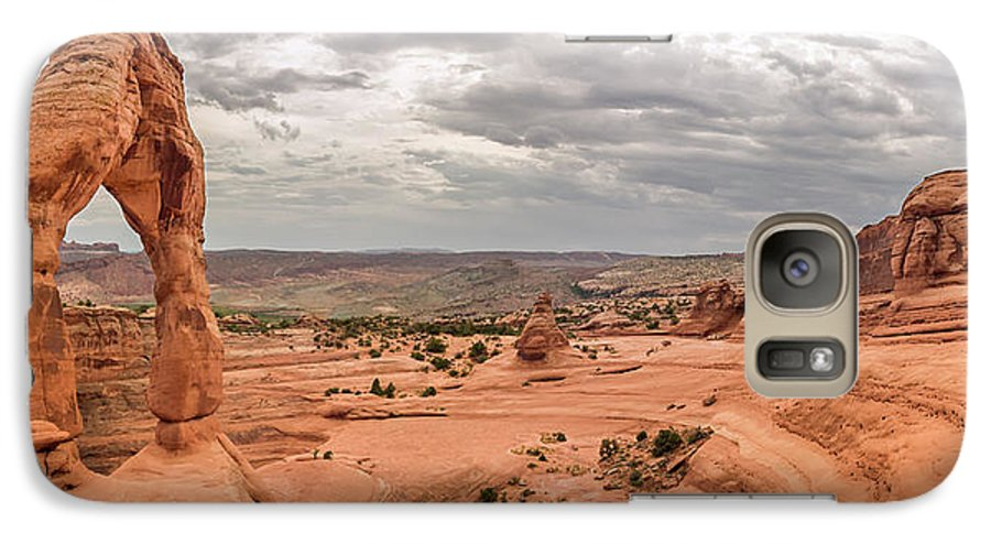 3scape Galaxy S7 Case featuring the photograph Delicate Arch Panoramic by Adam Romanowicz