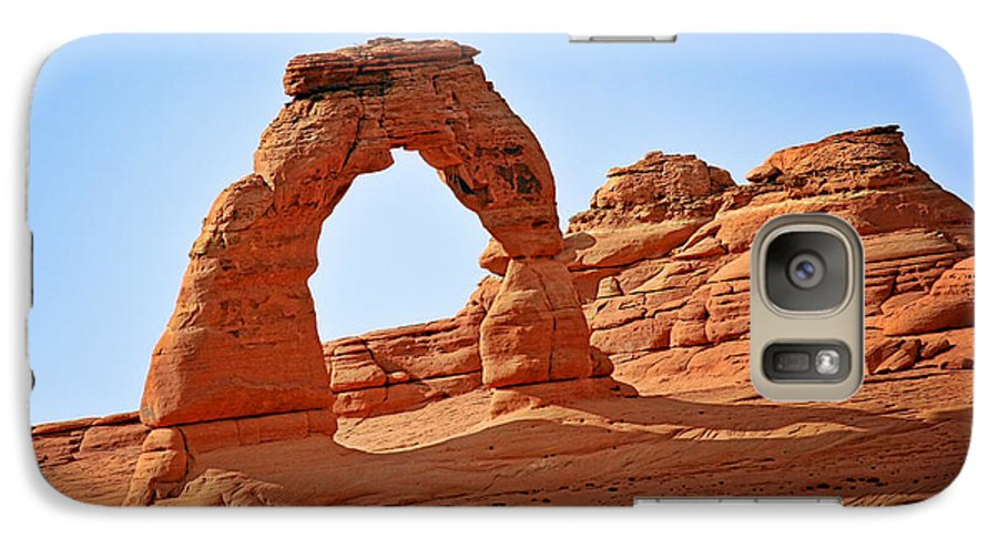 Landscape Galaxy S7 Case featuring the photograph Delicate Arch The Arches National Park Utah by Christine Till