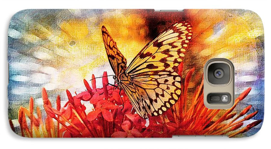 Butterfly Galaxy S7 Case featuring the photograph Delicate Beauty by Aaron Berg