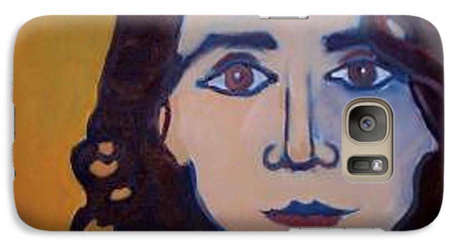 Greek Woman Galaxy S7 Case featuring the painting Denise Closeup by Debra Bretton Robinson