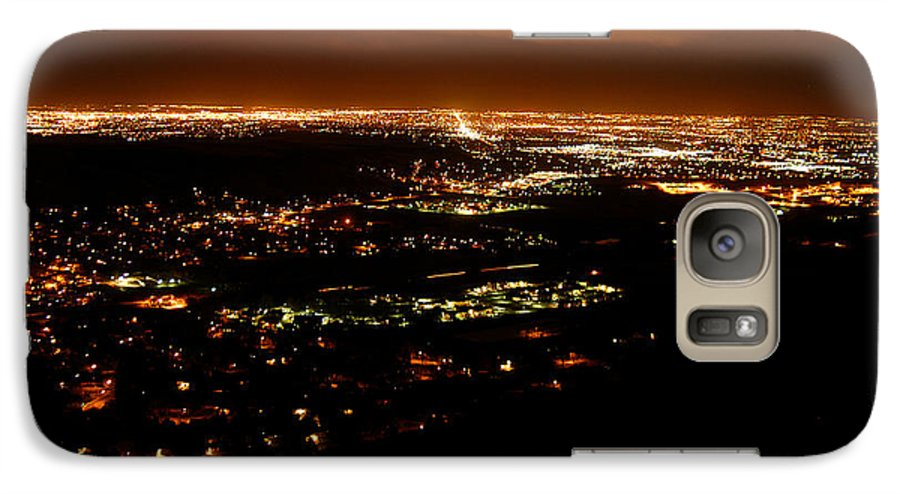 Clay Galaxy S7 Case featuring the photograph Denver Area At Night From Lookout Mountain by Clayton Bruster
