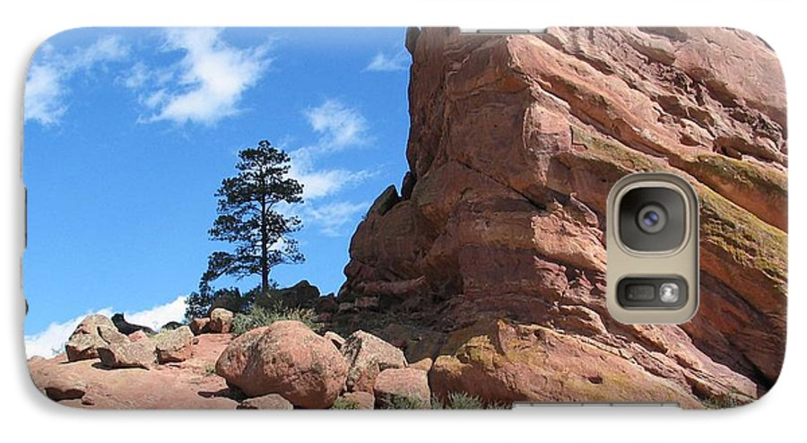 Colorado Galaxy S7 Case featuring the photograph Denver Red Rocks by Margaret Fortunato