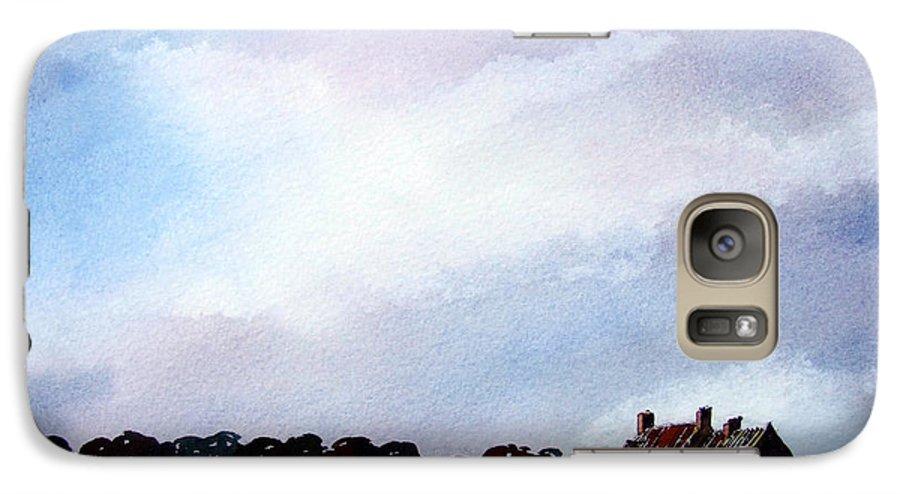 Watercolour Galaxy S7 Case featuring the painting Derelict Farmhouse Near Malton by Paul Dene Marlor