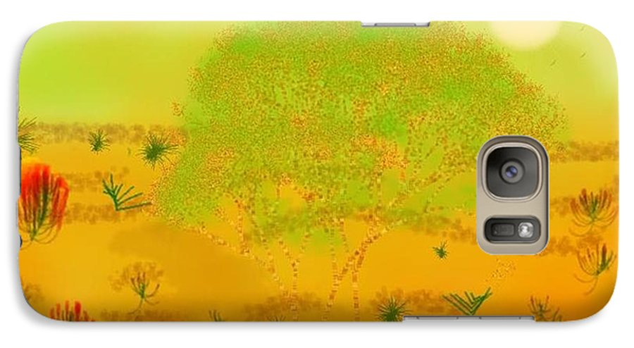 Sky.heat.dust.sun.desert.bush.sand.prickles. Sandy Dunes.rest.silence. Galaxy S7 Case featuring the digital art Desert by Dr Loifer Vladimir